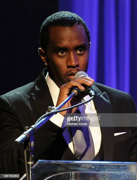 Sean 'Diddy' Combs speaks onstage at Clive Davis And The Recording Academy's 2012 PreGRAMMY Gala And Salute To Industry Icons Honoring Richard...