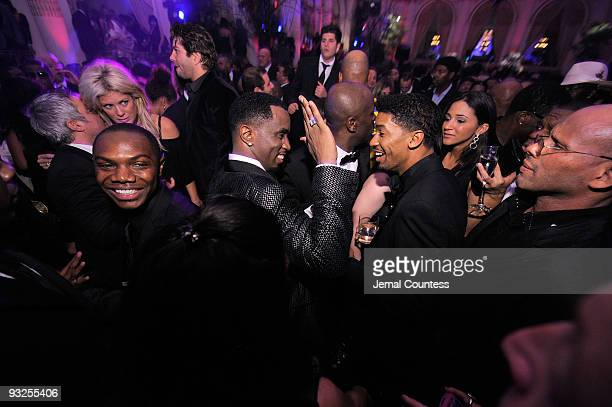 """Sean """"Diddy"""" Combs stands with Farnsworth Bentley at the Sean """"Diddy"""" Combs' Birthday Celebration Presented by Ciroc Vodka at The Grand Ballroom at..."""