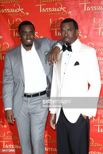 Sean Diddy Combs unveils the Sean Diddy Combs wax figure at Madame Tussauds on December 15 2009 in New York City