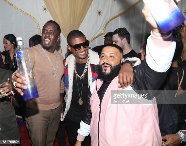 Sean 'Diddy' Combs Usher and DJ Khaled attend The Four cast Sean Diddy Combs Fergie and Meghan Trainor Host DJ Khaled's Birthday Presented by CÎROC...
