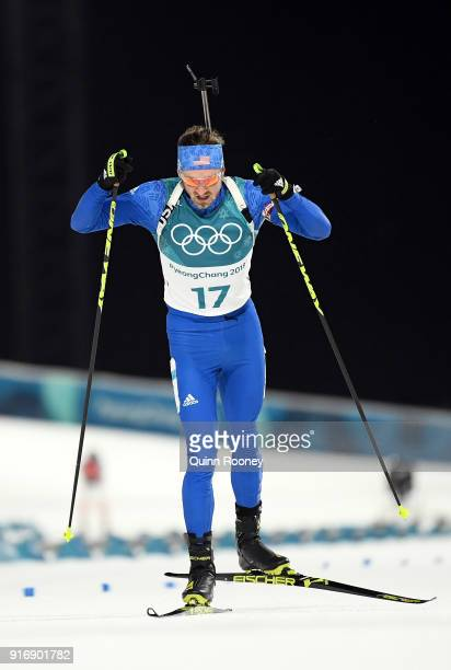 Sean Doherty of the United States competes during the Men's 10km Sprint Biathlon on day two of the PyeongChang 2018 Winter Olympic Games at Alpensia...