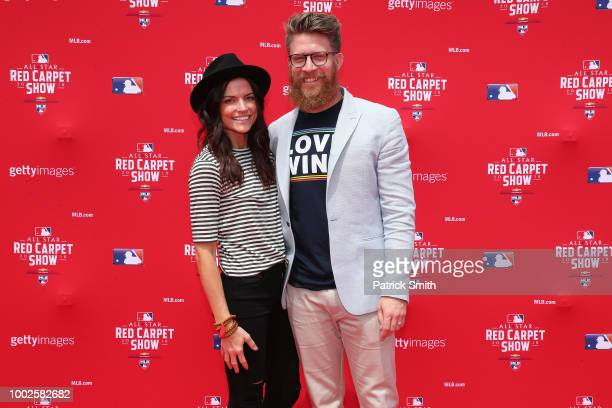 Sean Doolittle of the Washington Nationals and guest attends the 89th MLB AllStar Game presented by MasterCard red carpet at Nationals Park on July...