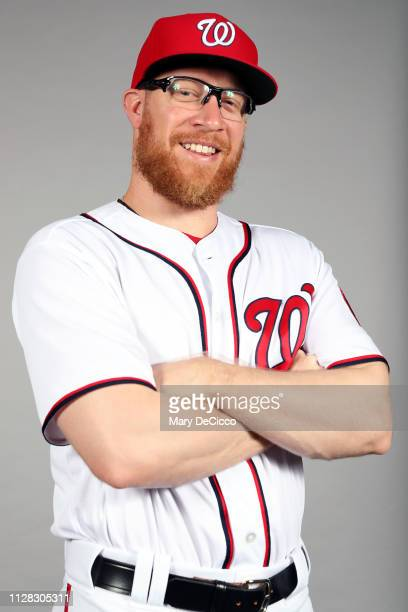 Sean Doolittle of the Washington Nationals poses during Photo Day on Friday February 22 2019 at the FITTEAM Ballpark of the Palm Beaches in West Palm...