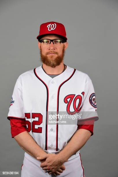 Sean Doolittle poses during Photo Day on Thursday February 22 2018 at the Ballpark of Palm Beaches in West Palm Beach Florida