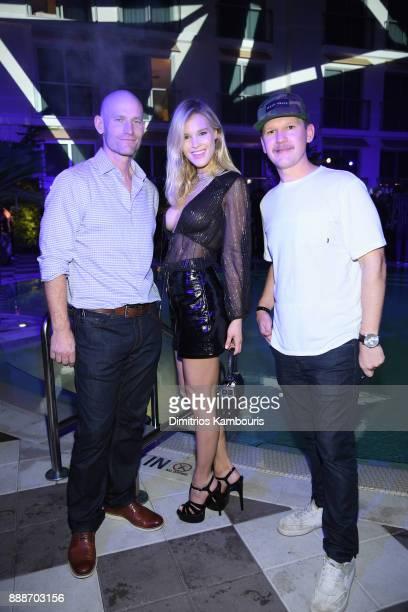 Sean Driscoll Joy Corrigan and Matt Kessler attend the Maxim December Miami Issue Party Presented by blu on December 8 2017 in Miami Beach Florida