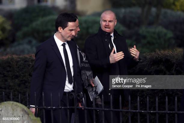 Sean Dyche leaves the church after the funeral service for Graham Taylor held at St Mary's Church Watford