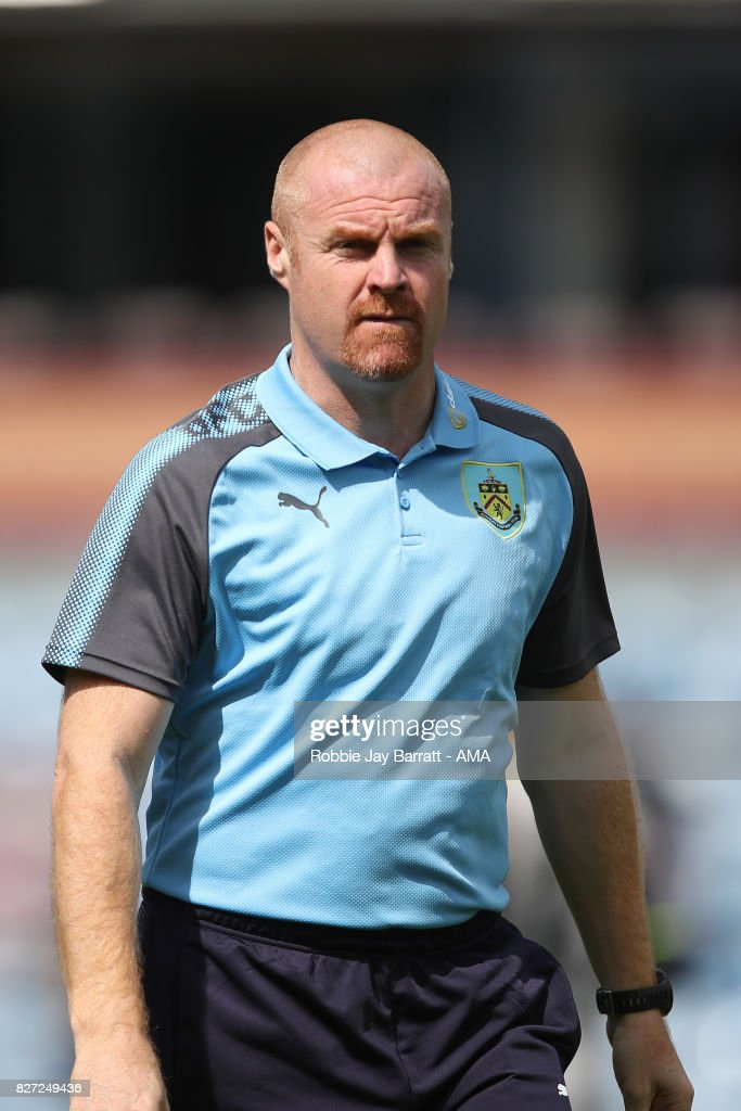 Sean Dyche manager / head coach of Burnley during the Pre-Season Friendly between Burnley and Hannover 96 at Turf Moor on August 5, 2017 in Burnley, England.