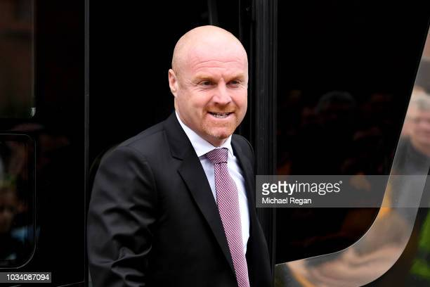 Sean Dyche Manager of Burnley arrives at the stadium prior to the Premier League match between Wolverhampton Wanderers and Burnley FC at Molineux on...