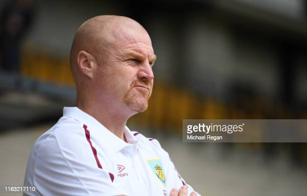 Sean Dyche, manager of Burnley during the Pre-Season Friendly match between Port Vale and Burnley at Vale Park on July 20, 2019 in Burslem, England.
