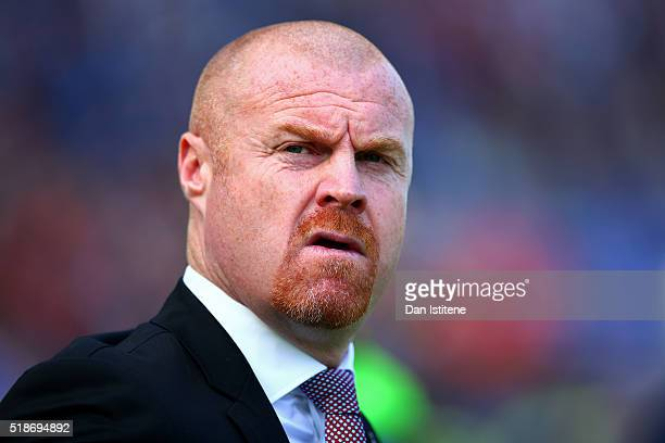 Sean Dyche manager of Burnley looks on before the Sky Bet Championship match between Brighton Hove Albion and Burnley at Amex Stadium on April 2 2016...