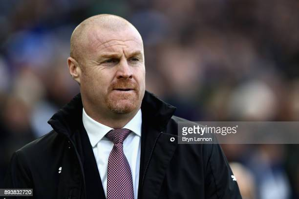 Sean Dyche Manager of Burnley looks on during the Premier League match between Brighton and Hove Albion and Burnley at Amex Stadium on December 16...