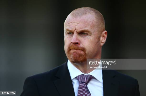 Sean Dyche Manager of Burnley looks on prior to the Premier League match between Crystal Palace and Burnley at Selhurst Park on April 29 2017 in...