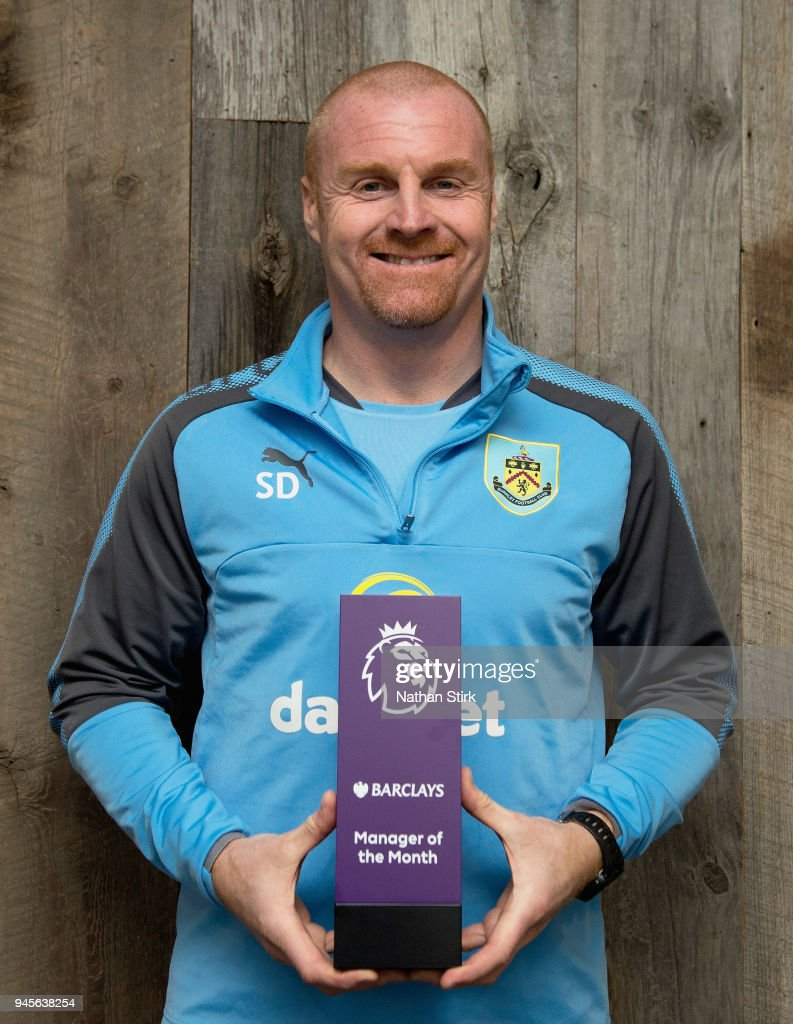 Sean Dyche wins the Barclays Manager of the Month Award - March 2018