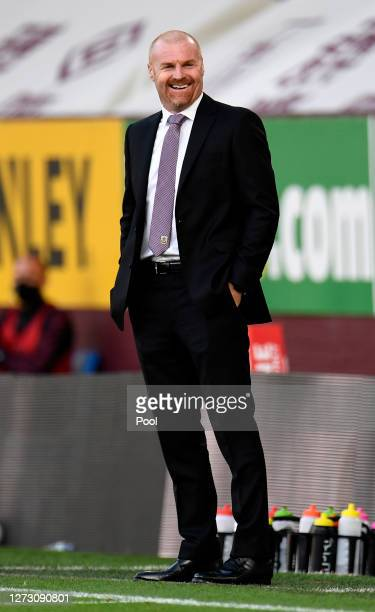 Sean Dyche Manager of Burnley reacts during the Carabao Cup second round match between Burnley and Sheffield United at Turf Moor on September 17 2020...
