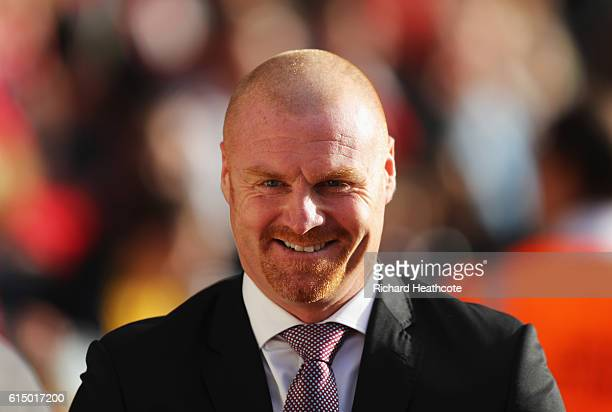 Sean Dyche manager of Burnley smiles prior to the Premier League match between Southampton and Burnley at St Mary's Stadium on October 16 2016 in...