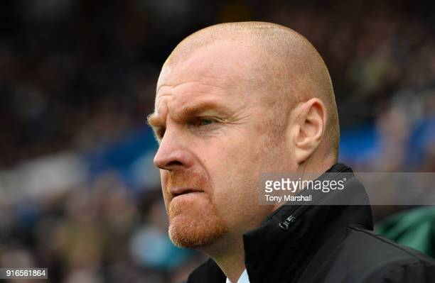 Sean Dyche Manager of LBurnley looks on ahead of the Premier League match between Swansea City and Burnley at Liberty Stadium on February 10 2018 in...
