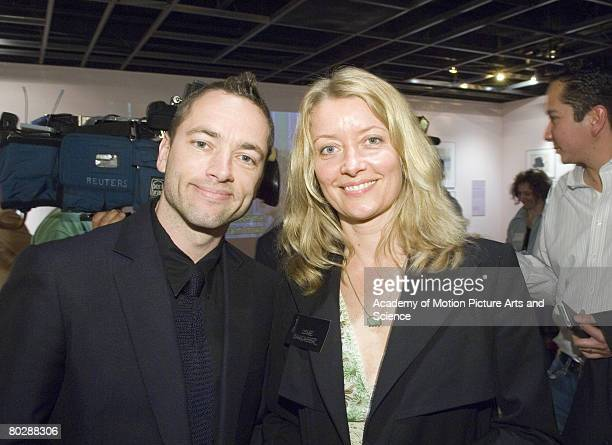 Sean Ellis and Lene Bausager director and producer respectively of the Oscar nominated live action short Cashback at the reception for the Academy of...