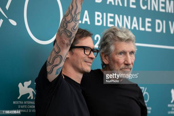 Sean Evans and Roger Waters attend the ''Roger Waters Us + Them'' Photocall during the 76th Venice Film Festival at on September 06, 2019 in Venice,...