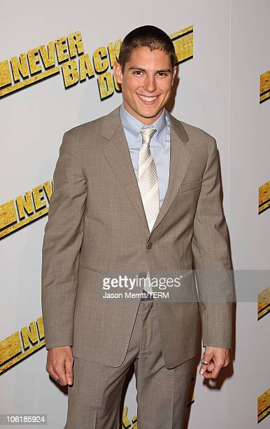 Sean Faris arrives at the premiere of Summit Entertainment's 'Never Back Down' at the Cinerama Dome on March 4 2008 in Hollywood California