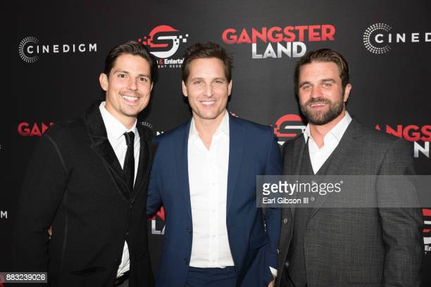 Sean Faris Peter Facinelli and Milo Gibson attend the Premiere Of Cinedigm's 'Gangster Land' at the Egyptian Theatre on November 29 2017 in Hollywood...