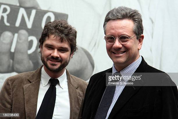 Sean Ferrer son of Audrey Hepburn and Luca Dotti attend the 'Audrey In Rome' Opening Exhibition duing 6th International Rome Film Festival at Ara...