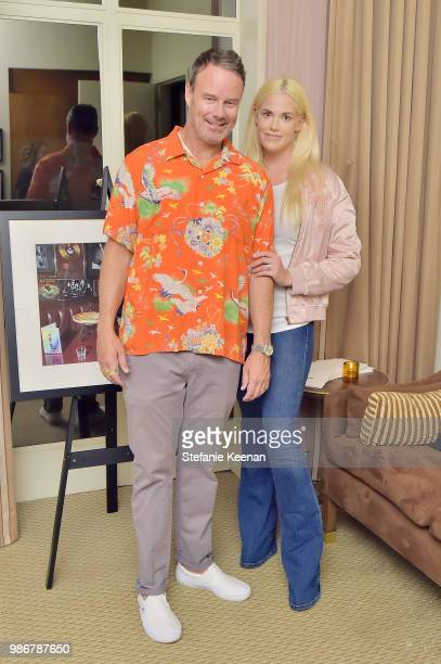 Sean Fey and Birdie Bell attend Diesel Presents Scott Lipps Photography Exhibition 'Rocks Not Dead' at Sunset Tower on June 28 2018 in Los Angeles...