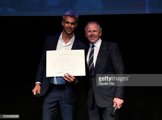 Sean Fitzpatrick and Bruno Cerella attend Laureus F1 Charity Night on August 30 2018 in Milan Italy