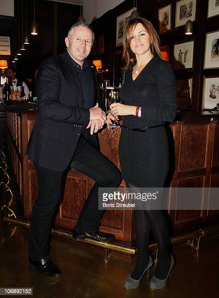 Sean Fitzpatrick and his wife Bronwyn Fitzpatrick attend the Academy Dinner of the Laureus Academy Forum at Springer Publishers Club on November 15,...