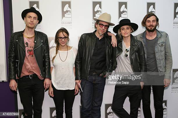 Sean Friday Siouxsie Medley Emily Armstrong and Chris Null of Dead Sara with with Vice President of the GRAMMY Foundation Scott Goldman at Homegrown...