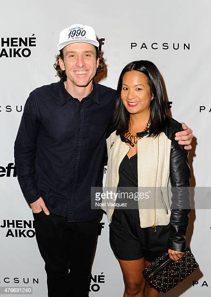 Sean G and Hennessy West Coast Marketing Manager ThuyAnh J Nguyen attend Neff Headwear x PacSun presents Jhene Aiko's Soul of Summer Collection at US...