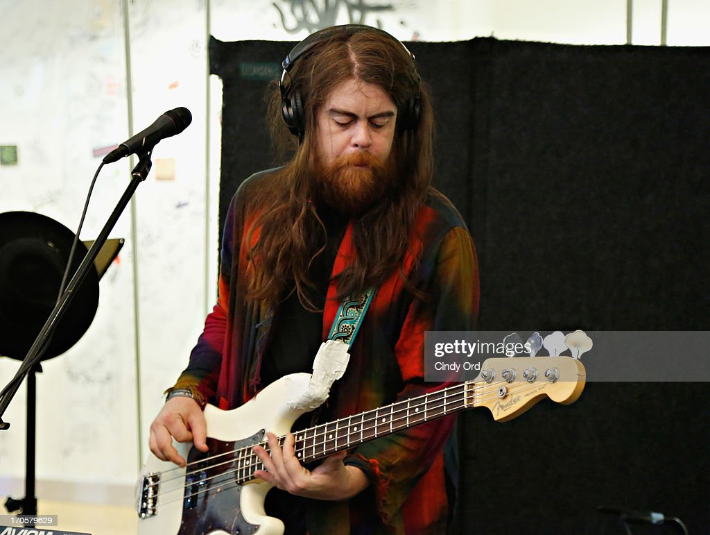 Sean Gadd of Grouplove performs at the SiriusXM Studios on June 14, 2013 in New York City.