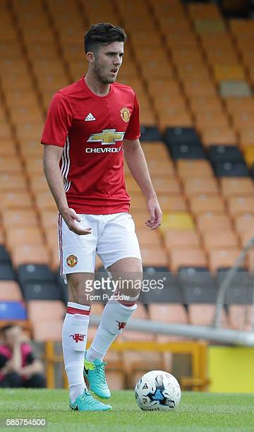 Sean Goss of Manchester United U21s in action during the preseason friendly between Port Vale and Manchester United U21s at Vale Park on July 30 2016...