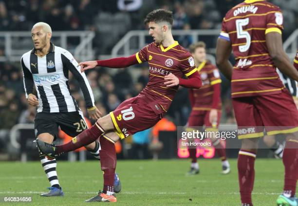 Sean Goss of QPR during the Sky Bet Championship match between Newcastle United and Queens Park Rangers at St James' Park on February 1 2017 in...