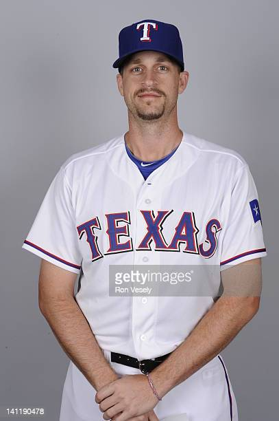 Sean Green of the Texas Rangers poses during Photo Day on Tuesday February 28 2012 at Surprise Stadium in Surprise Arizona