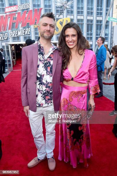 Sean Gunn and Natasha Halevi attend the Los Angeles Global Premiere for Marvel Studios' 'AntMan And The Wasp' at the El Capitan Theatre on June 25...