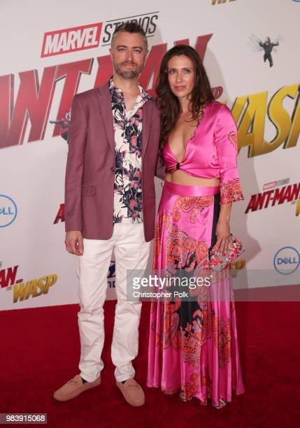 Sean Gunn and Natasha Halevi attend the premiere of Disney And Marvel's 'AntMan And The Wasp' on June 25 2018 in Los Angeles California