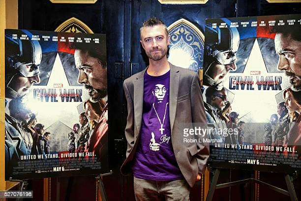 "Sean Gunn ""Guardians of the Galaxy"" attends ""Captain America: Civil War"" Screening at the Fox Theatre on May 1, 2016 in Atlanta, Georgia."