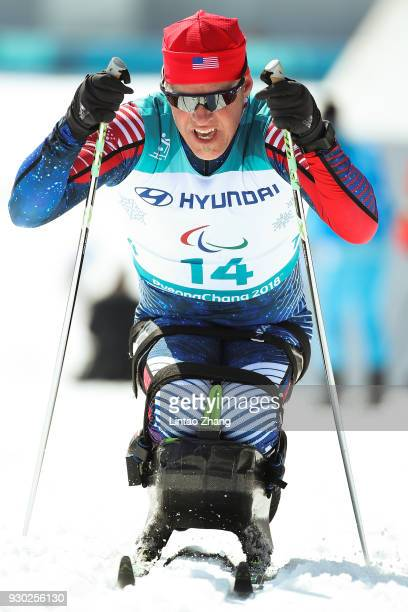 Sean Halsted of the United States competes in the Men's Cross Country 15km Sitting event at Alpensia Biathlon Centre during day two of the...