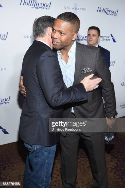 Sean Hannity and A J Calloway attend The Hollywood Reporter 35 Most Powerful People In Media 2017 at The Pool on April 13 2017 in New York City