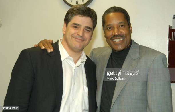 Sean Hannity and Larry Elder during Sean Hannity ABC Radio Show West Coast Broadcast at Redondo Beach Performing Art Center in Redondo Beach...