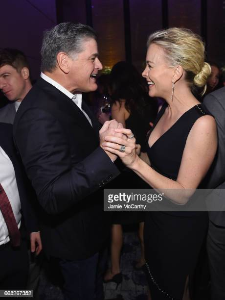 Sean Hannity and Megyn Kelly attend The Hollywood Reporter 35 Most Powerful People In Media 2017 at The Pool on April 13 2017 in New York City
