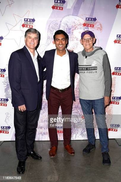 Sean Hannity Steven Olikara and James Carville attend the 2019 Politicon at Music City Center on October 26 2019 in Nashville Tennessee