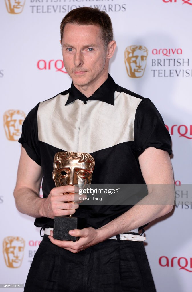 Sean Harris with the Leading Actor Award for Southcliffe, at the Arqiva British Academy Television Awards held at the Theatre Royal on May 18, 2014 in London, England.