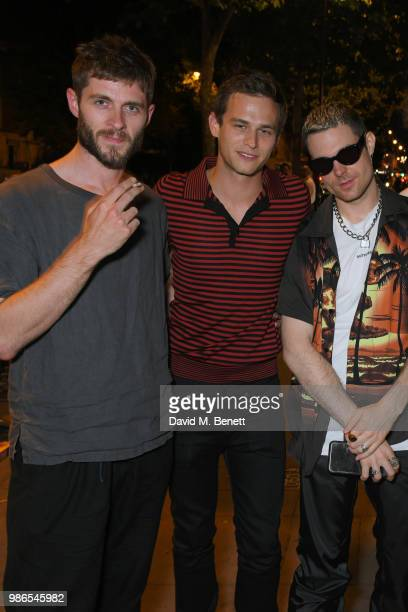 Sean Hart Brandon Flynn and Nico Amarca attend London dinner to celebrate the Persol SS/18 Good Point Well Made Live Series hosted by Jefferson Hack...