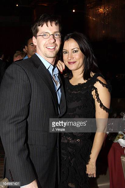 Sean Hayes and Jennifer Tilly during The 13th Annual GLAAD Media Awards - Los Angeles - Backstage & Dinner at The Kodak Theater in Los Angeles,...