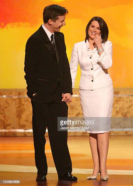 Sean Hayes and Megan Mullally during 17th Annual GLAAD Media Awards Show at Kodak Theatre in Hollywood California United States