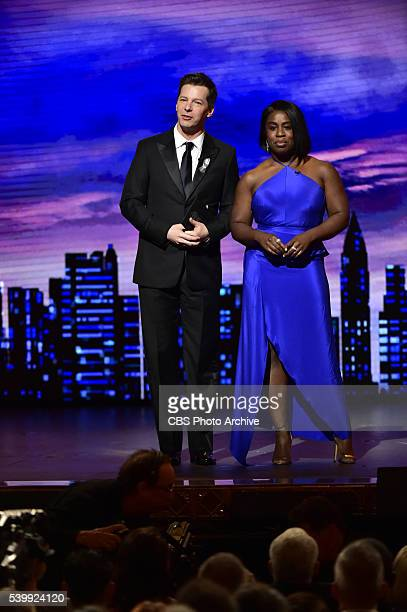 Sean Hayes and Uzo Aduba at THE 70TH ANNUAL TONY AWARDS live from the Beacon Theatre in New York City Sunday June 12 on the CBS Television Network