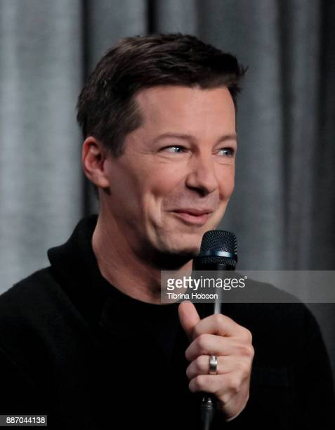 Sean Hayes attends SAGAFTRA Foundation's conversations and screening of 'Will Grace' at SAGAFTRA Foundation screening room on December 5 2017 in Los...