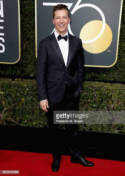 Sean Hayes attends The 75th Annual Golden Globe Awards at The Beverly Hilton Hotel on January 7 2018 in Beverly Hills California