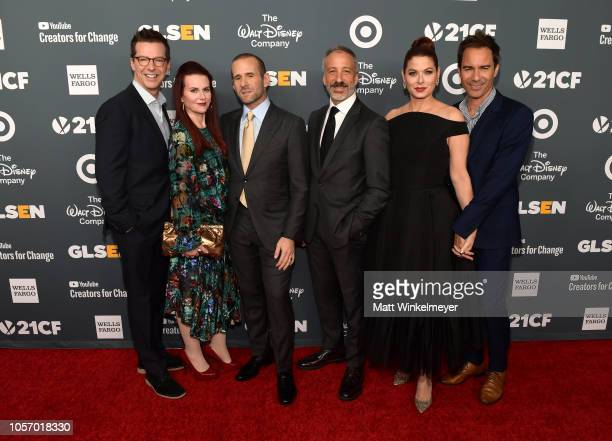 Sean Hayes Megan Mullally Max Mutchnick David Kohan Debra Messing and Eric McCormack attend the GLSEN Respect Awards at the Beverly Wilshire Four...